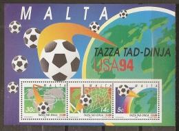 FÚTBOL - MALTA 1994 - Yvert #H14 - MNH ** - World Cup