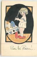 ENFANT SE COIFFANT  - Pour Lui Plaire! Carte Dessinée. - Cartes Humoristiques