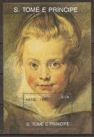 PINTURA/RUBENS - SANTO TOME Y PRINCIPE 1990 - Yvert #H91 - MNH ** - Rubens