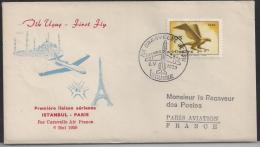 Premiere Liaison Aérienne Istanbul Paris, 6 Mai 1959 - Poste Aérienne