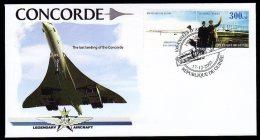 Guinea Guinée 2003 FDC Legendary Aircraft , Concorde Nice Cover.17 - Concorde