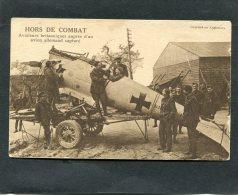 MILITARIA WW1 GUERRE DE 1914-18 AVION ALLEMAND BIPLAN CAPTURE PAR  ANGLAIS  /  CIRC  NON EDITION ANGLAISE - Oorlog 1914-18