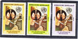 "IRAQ 1980 World Health Day "" Stop Smoking"" - Set Of 3 ;Scott No.962 - 964 MNH - Iraq"