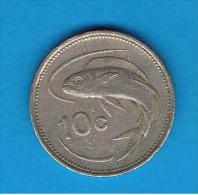 MALTA - 10 Cents  1986 - Malta