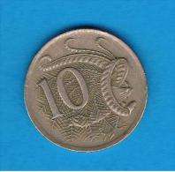 AUSTRALIA -  10 Cents - Moneda Decimale (1966-...)