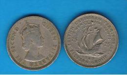 BRITISH   CARIBBEAN TERRITORIES -  25  Cents - Colonias
