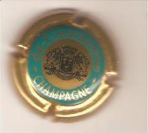 CAPSULE MUSELET CHAMPAGNE DE CAZANOVE(vert Et Noir Fond Or) - De Cazanove
