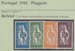 Portugal Flugpost 1941,Nr.642-45 Postfrisch ** Kat. 400,- Euro - Neufs