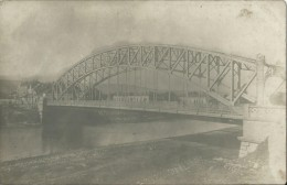 Cpa Photo Pont Durant La Premiere Guerre Ecrite Par Un Soldat A Sa Douce             A Situer !! - To Identify