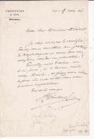 JOSEPHIN SOULARY (1815 1891 LYON ) POETE FRANCAIS LETTRE  A SIGNATURE 1856 - Autographes