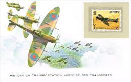 Histoire DesTransports Jersey 10p - Avions