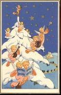 PK Devotie Engelen Rond Kerstboom - Illustr. J. Gouppy - Angeles