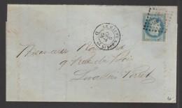 FRANCE 1868 N° 29 Obl. S/Lettre Entiére Ambulant Le Havre/Paris - 1863-1870 Napoléon III Lauré