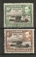 KENYA,UGANDA AND TANGANYIKA 1952 ROYAL VISIT SET SG 163/164  FINE USED Cat £3.50 - Kenya, Uganda & Tanganyika