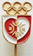 Olympic Pin -SARAJEVO 1984 XIV WINTER OLYMPIC GAMES, PODRAVKA - KOPRIVNICA SPONSOR PIN BADGE - Olympic Games