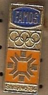 Olympic Pin -SARAJEVO 1984 XIV WINTER OLYMPIC GAMES, Vintage Olympic Pin Badge, Famos Olympics Snowflake Sarajevo '84 - Olympic Games