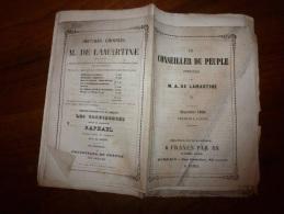 Septembre 1849 LE CONSEILLER DU PEUPLE Par LAMARTINE..rare Journal D´origine Tel Qu´i Avait été Distribué (non Retaillé) - Journaux - Quotidiens