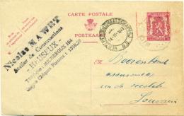 """Belgique - Entier Postal -10% De Micheroux Vers Louvain, Cachet Dateur De L'agence """"verzekeringsmaatschappij """", See Scan - 1946 -10 %"""