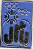 Olympic Pin -SARAJEVO 1984 XIV WINTER OLYMPIC GAMES, 1984 Sarajevo JRT Jugoslavia Radio And Television Olympic Media Pin - Olympic Games