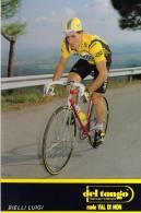 CARTE CYCLISTE  LUIGI  BIELLI   DEL  TONGO 1988 - Cyclisme