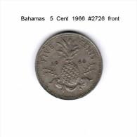 BAHAMAS   5  CENTS  1966  (KM # 3) - Bahamas