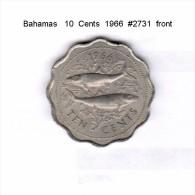 BAHAMAS   10  CENTS  1966  (KM # 4) - Bahamas