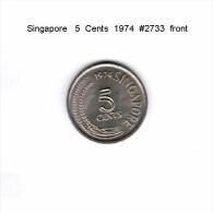 SINGAPORE   5  CENTS  1974  (KM # 2) - Singapore