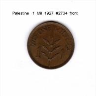 PALESTINE   1  MIL  1927  (KM # 1) - Coins