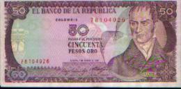 Colombie - 50 Pesos Oro - 1985 - Colombie