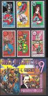 Komoren Comores 1979 Mi# 553-58 Bl. 217A ** MNH Jahr Des Kindes YEAR OF THE CHILD Benz Sport Weltraum Space - Comores (1975-...)