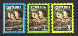 Costa Rica 1979 Mi# 1029-31 ** MNH Jahr Des Kindes YEAR OF THE CHILD Vögel Birds - Costa Rica
