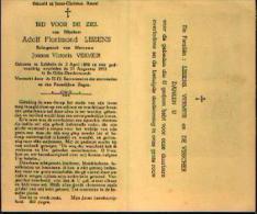 Souvenir Mortuaire : LISSENS,Adolf (1886-1953) Geboren Te LEBBEKE Overleden Te SINT-GILLIS-DENDERMONDE - Devotion Images