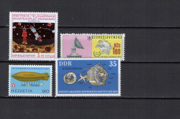 Bulgaria / Czechoslovakia / Switzerland / DDR 1974/1975 Space 4 Stamps MNH - Space