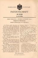 Original Patentschrift - J. Forkarth In Innsbruck - Wilten , 1902 , Kurbel Für Motorfahrzeuge , Automobile !!! - KFZ