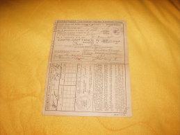 CARTE QUITTANCE INSTITUT D'ASSURANCE SOCIALE D'ALSACE ET DE LORRAINE / ANNEE 1930.  / 52 TIMBRES FISCAUX 4 DIFFERENTS. - Revenue Stamps