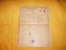 CARTE QUITTANCE INSTITUT D´ASSURANCE SOCIALE D´ALSACE ET DE LORRAINE / ANNEE 1932.  / 52 TIMBRES FISCAUX + CACHETS - Revenue Stamps