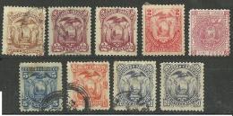 ECUADOR Lot Of Old Coat Of Arms Stamps Wappen, Mint (no Gum) & Used - Ecuador