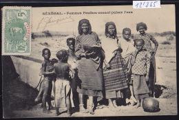 Sénégal - Femmes Peulhes Venant Puiser De L'eau, Enfants ; Timbre Sénégal : Afrique Occidentale Française 1911 (12´865) - Sénégal