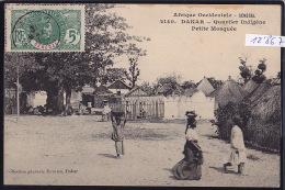 Sénégal - Dakar Quartier Indigène - Petite Mosquée ; Timbre Sénégal : Afrique Occidentale Française 1911 (12´867) - Sénégal