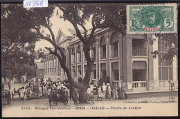 Sénégal - Dakar : Palais De Justice ; Timbre Sénégal : Afrique Occidentale Française Ca 1911 (12´868) - Sénégal
