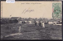 Sénégal - Dakar : Le Camp Des Tirailleurs ; Timbre Sénégal : Afrique Occidentale Française 1912 (12´869) - Sénégal