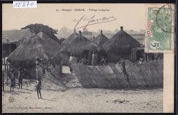Sénégal - Dakar : Le Village Indigène ; Timbre Sénégal : Afrique Occidentale Française 1912 (12´870) - Sénégal