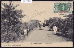 Sénégal - Dakar : Village Noir De Tiédem ; Timbre Haut-Sénégal - Niger : Afrique Occidentale Française 1912 (12´872) - Sénégal