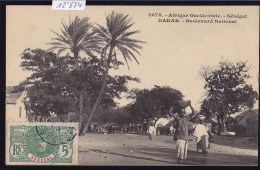 Sénégal - Dakar : Boulevard Nation; Timbre Afrique Occidentale Française Sénégal : 1911 (12´874) - Sénégal