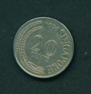 SINGAPORE - 1976  20c Circ. - Singapore