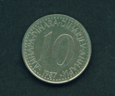 YUGOSLAVIA - 1987  10p Circ. - Yugoslavia