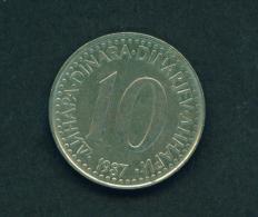 YUGOSLAVIA - 1987  10p Circ. - Jugoslawien
