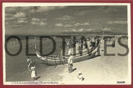 COSTA DA CAPARICA - VISTA PARCIAL DA PRAIA - 1940 REAL PHOTO PC - Setúbal