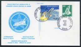 1982 USA Kennedy Space Centre Columbia Shuttle Rocket Cover - Covers & Documents