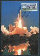 1989 USA Kennedy Space Centre Columbia Shuttle Rocket Maxicard - Covers & Documents